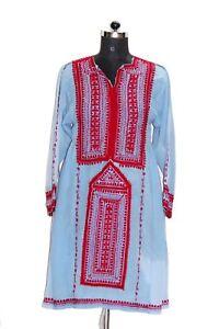 Antique Vinatge Banjara Girlstop Afghani Dress Genuine Handmad Red Embroidered