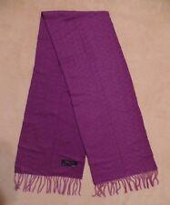 c9440f5fb Charming Charlie fringed warm wool scarf, purple herringbone pattern, ...