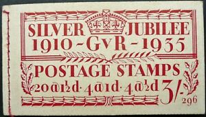 GB 1935 KGV SILVER JUBILEE 3/ (296 EDITION) STAMP BOOKLET - SEE!