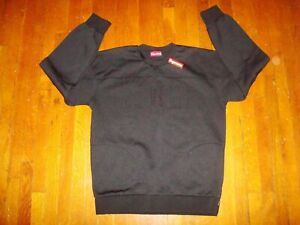Supreme Track Crewneck Sweatshirt 2014 (With Pockets)/ Extra Large/ Black