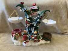 RARE Yankee Candle Tealight/Wax Musical Lights Happy Holidays Critters RETIRED!