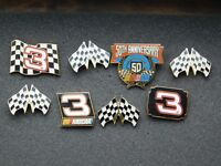 VINTAGE 8 METAL PINS  RACE CARS 1998 NASCAR