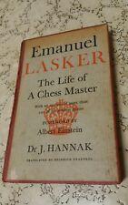 Emanuel Lasker The Life of A Chess Master Fw ALBERT EINSTEIN HC Rare 1st Edition