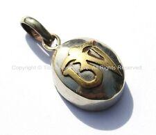 Tibetan OM Small Ghau Prayer Box Amulet Pendant - Ethnic Nepal Tibet Jewelry