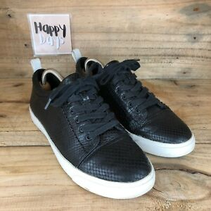Clarks Glove Echo Somerset Womens Black Snake Print Lace Up Trainers Size UK6D