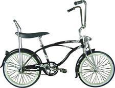 """20"""" Beach Cruiser Bicycle Bike LowRider MBI Hero Black"""