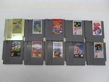 LOT OF 10 RARE NINTENDO NES GAMES - INCLUDES GOLD ZELDA II & BALLOON FIGHT
