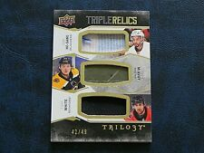 2017-18 17/18 Trilogy Triple Relics Josh Ho-Sang Charlie McAvoy Colin White / 49