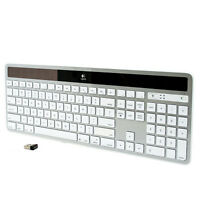 Logitech K750 White Wireless Solar Keyboard for Mac - White/Silver