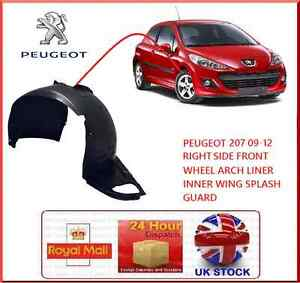 PEUGEOT 207 09-12 RIGHT SIDE DRIV FRONT WHEEL ARCH LINER INNER WING SPLASH GUARD