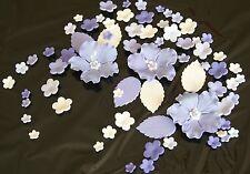 Tortenaufleger Zuckerblumen Hochzeit Muffins Fondant Tortendeko Kuchendeko lila