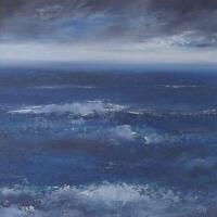 Amanda Hoskin Original Oil Painting - Land's End Seascape Cornwall (Cornish Art)