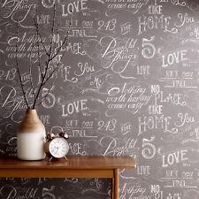 Fresco Great Value Chalk Board Effect Grey Wallpaper
