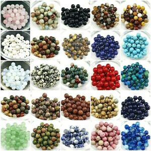 Natural Gemstone Round Bead Loose Beads 4mm 100pcs 6mm 8mm 10mm 12mm Jewelry DIY