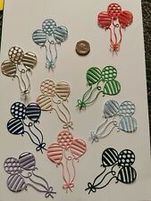 15 Die Cut Balloon Mixed Colours Card Topper Scrapbook