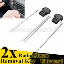 2x Black Car Auto Audio Stereo Radio Removal Tools Key For Mazda Ford Audi BMW