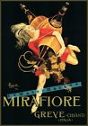 Mirafiore Greve Chianti Wine 1923 Italy Vintage Poster Print Wall Art Decoration