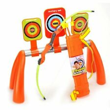 Archery Bow Arrow Costume Shoot Accessories Kids Child Boys Set 3 Targets Quiver