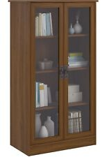 Ameriwood Home Quinton Point Bookcase with Glass Doors
