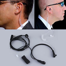 New 2PIN Security Throat Vibration Mic Headphone Headset Earpiece For Talkie OS