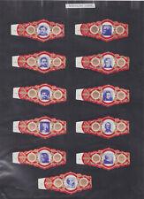 Série complète  Bague de Cigare Vitola Espagne BN115371 Ecrivains Poètes