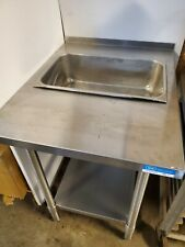 Custom Breading Table 24 X 30 Stainless Work With Food Pan Insert Prep Station