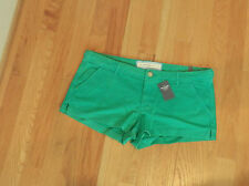 NWT Abercrombie & Fitch Parker low Rise Shorts size 6 Dark Green by Hollister