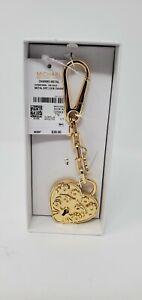 NEW MICHAEL Michael Kors Metal Heart Lock Charm GOLD TONE (18K Gold) NIB