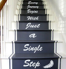 Stairs Decal Quote Stairway Vinyl Sticker Stairs Staircase Decal Lettering kk478