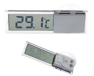 Thermomètre LCD Numérique Voiture Pare-brise  Température digital Ventouse car