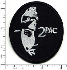 20 Pcs Embroidered Iron on patches Hip Hop Music 2 Pac Rapper AP056tU4