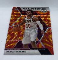 2019-20 Panini Mosaic Reactive Orange Prizm NBA DEBUT Darius Garland #262