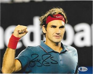 Roger Federer signed 8x10 photo Tennis Legend international sensation auto Bas