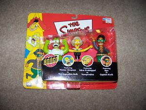 Playmates The Simpsons Figures The Ingestible Hulk, Vampiredna, and Kaptain Kwik