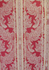 Designer Damask Stripe Wallpaper in Red and Gold per Triple Roll     11125990
