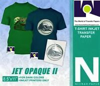 NEENAH TRANSFER PAPER JET OPAQUE II 25 SHEETS FOR DARK FABRICS