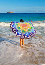 Colorful Lotus Beach Mat with Tassel