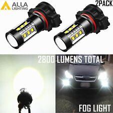Alla Lighting 5202 5201 LED SMD Fog Light Bulb Driving Lamp Xenon White 6000K 2x