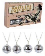 Lot de 10 Vintage Style Rétro Disco Miroir boules de Noël Arbre de Noel DEL Lumières