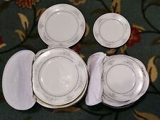 "26 Legendary Noritake Sweet Leilani Salad Plates Cases 8 3/8""  6 3/8"" Excellent"