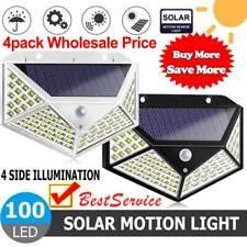 2/4pack 100LED Solar Power Light PIR Motion Sensor Garden Security Wall Lamp New