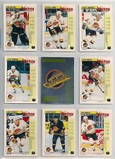 1992-93 Panini FRENCH Vancouver Canucks Lot of 15 Pavel Bure Etc.