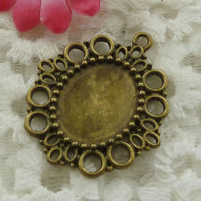 Free Ship 10 pieces bronze plated frame pendant 41x35mm #1289