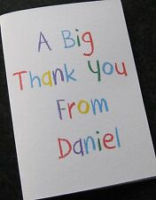 Personalised Thank You Cards - Birthday - Christening -Boys-Girls-Childrens-Kids