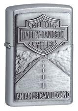 Zippo 20229, Harley Davidson, Emblem, Street Chrome Lighter, Full Size