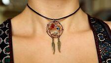 Chakra Charm Reiki Hippie Boho Ethnic Tribal Pendant Antique Choker Necklace