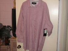 Men's Tranquility & Mayhem Light Pink Button-Down Shirt (4XL)