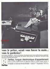 Publicité Orgue Electronique Farfisa Instrument de Musique  vintage ad 1967 -3j