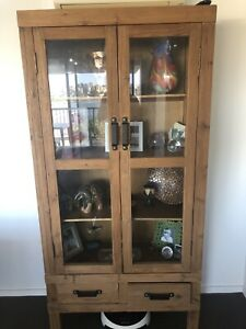 Display cabinet. Solid recycled wood