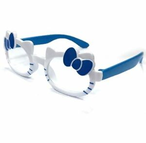 ANT Ribbon Frame Design Kids Fashion Glasses Eyewear - WHITE